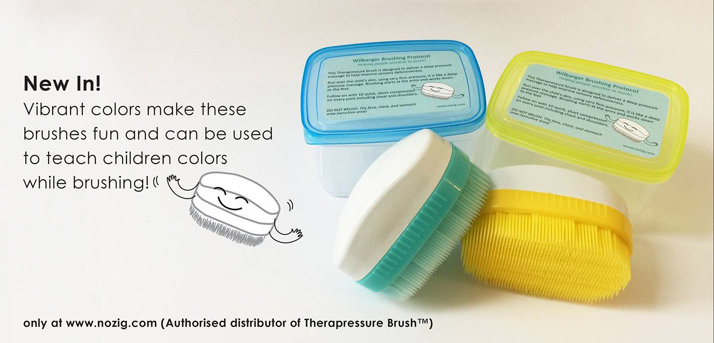 New color! Wilbarger Therapressure Brush!